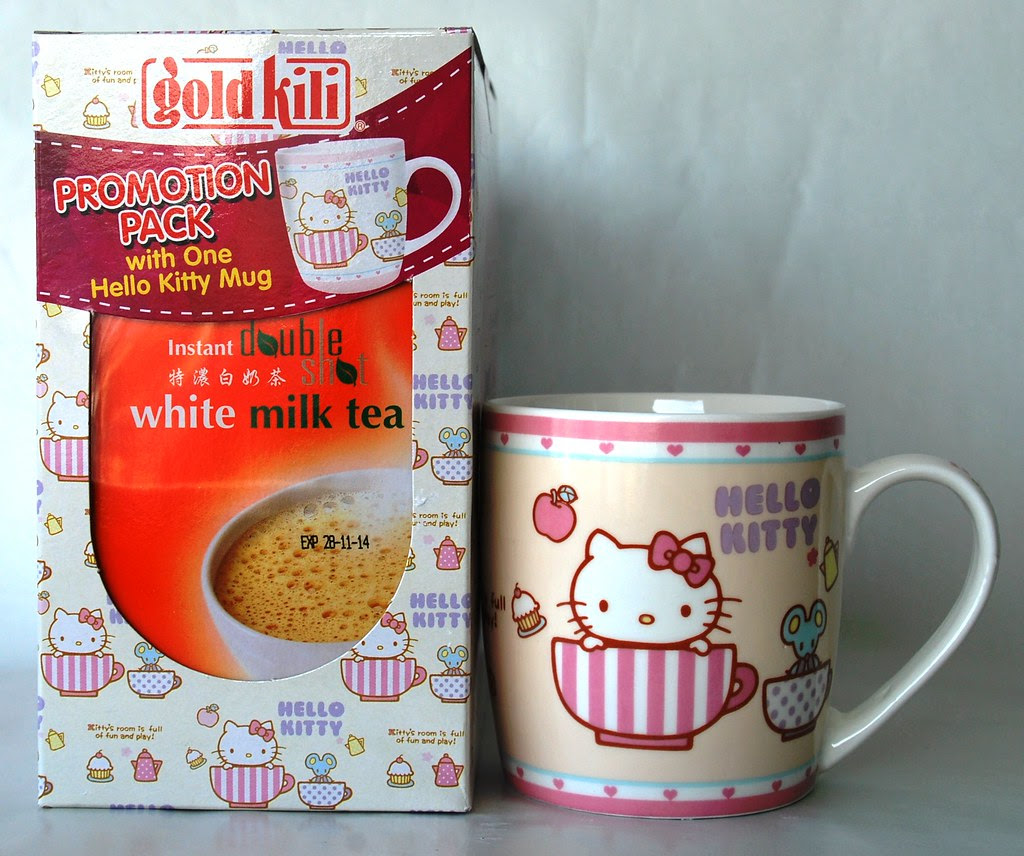 Hello Kitty Cup w Double Shot White Milk Tea