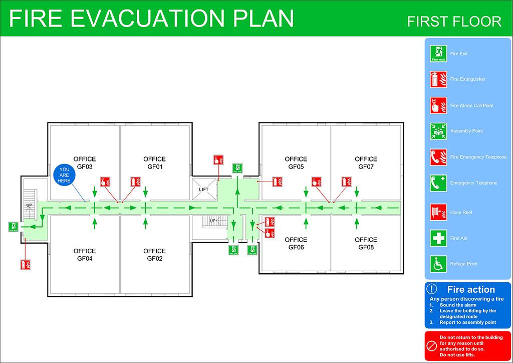 Fire Evacuation Plans Original CAD Solutions
