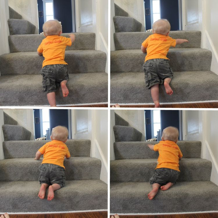 Owen on the stairs