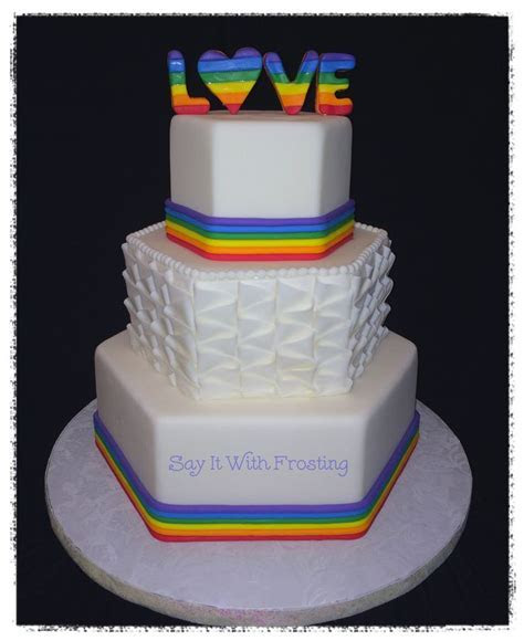 The 25  best Gay wedding cakes ideas on Pinterest   Lgbt