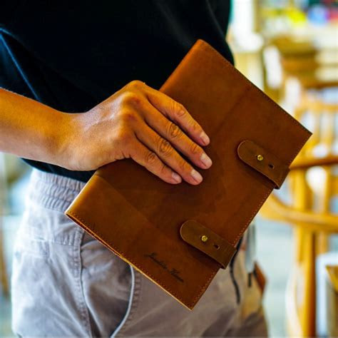 selling tan leather cover notebook agenda book