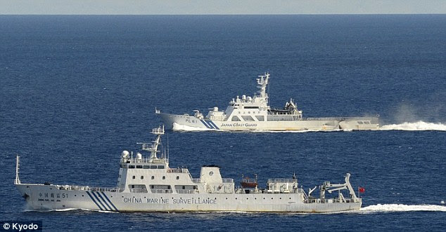 Sabre-chocalho: China enviou navios militares para as ilhas