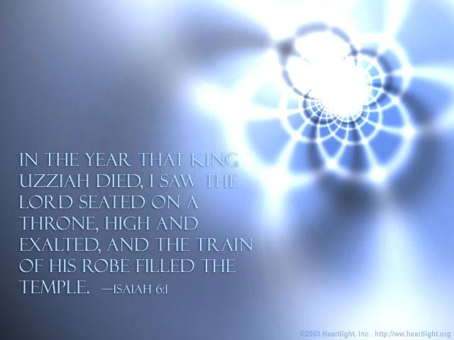 Inspirational illustration of Isaiah 6:1