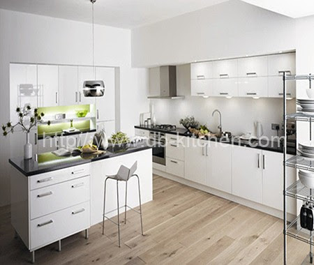 High Gloss White Acrylic Kitchen Cabinet