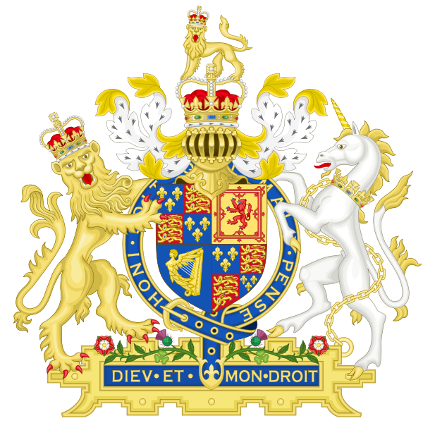 Archivo:Coat of Arms of England (1660-1689).svg