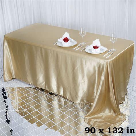 RECTANGULAR Satin Tablecloth Dinner Wedding Linens Party