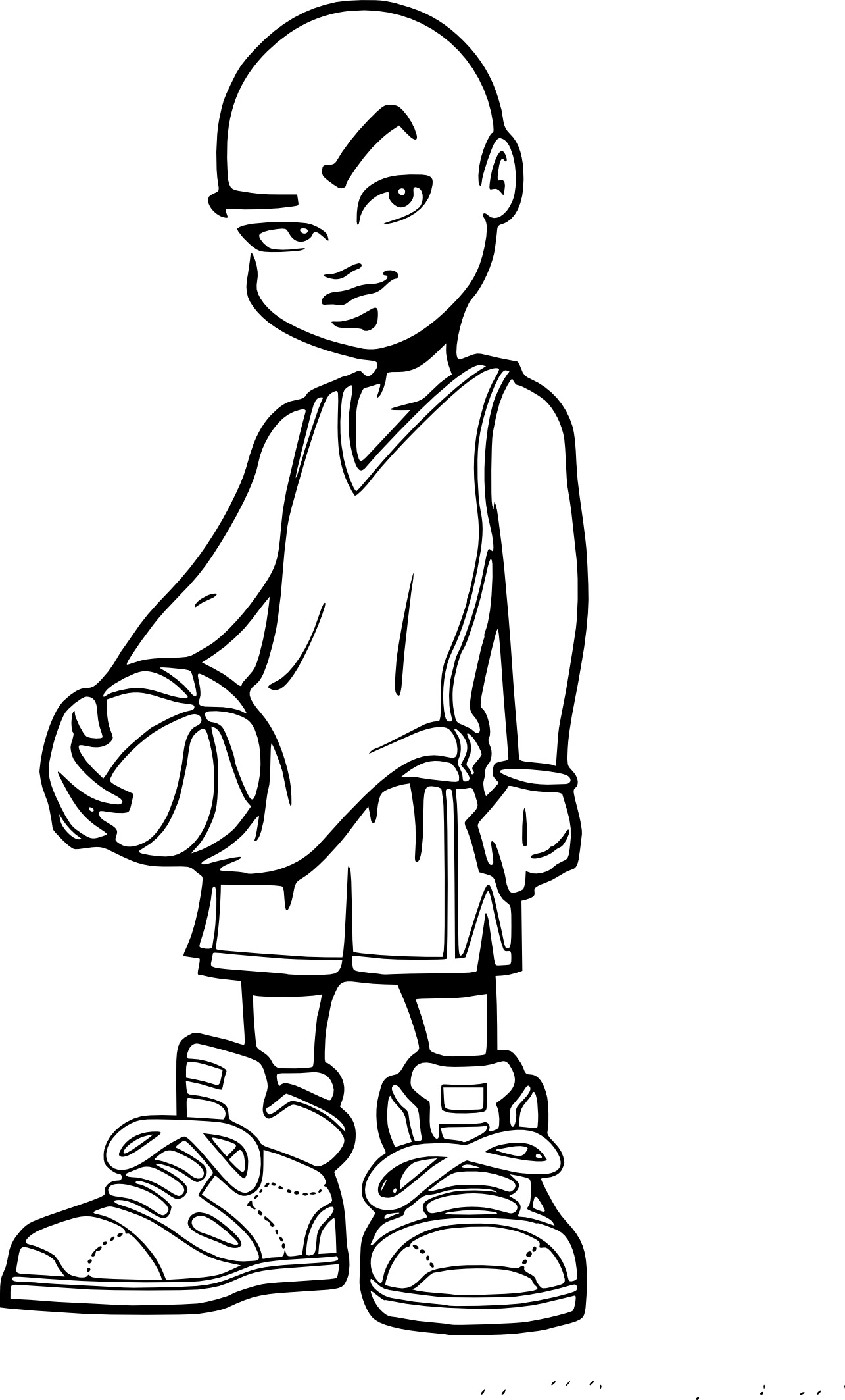 Coloriage de Basket