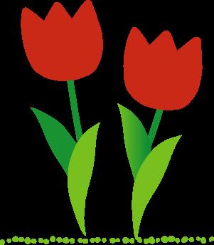 チューリップ春のイラスト無料素材
