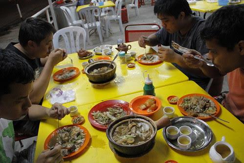 Eating Bak Kut Teh