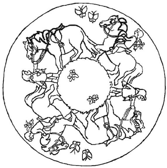 pferde mandalas zum ausmalen