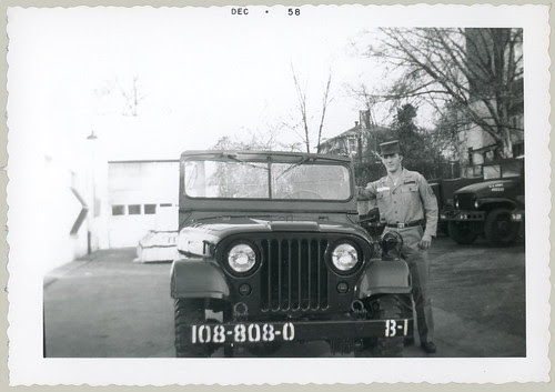 Man with jeep