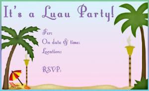 Hawaiian Luau Party Invitation Template Free - Wedding Invitation ...