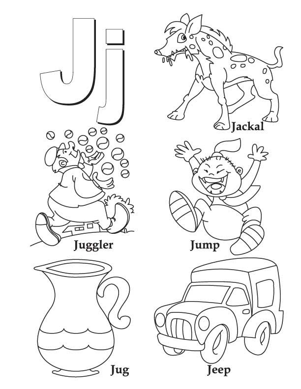 Printable Alphabet Coloring Pages Letters A J Afvere