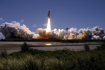 Space Shuttle Discovery lifts off on mission STS-121 on July 4, 2006.