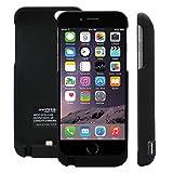 ハヤブサモバイル iPhone6/6S 4.7 大容量5700mAh モバイルバッテリー内蔵ケース 黒 [イヤホン延長ケーブルと日本語取扱説明書付]