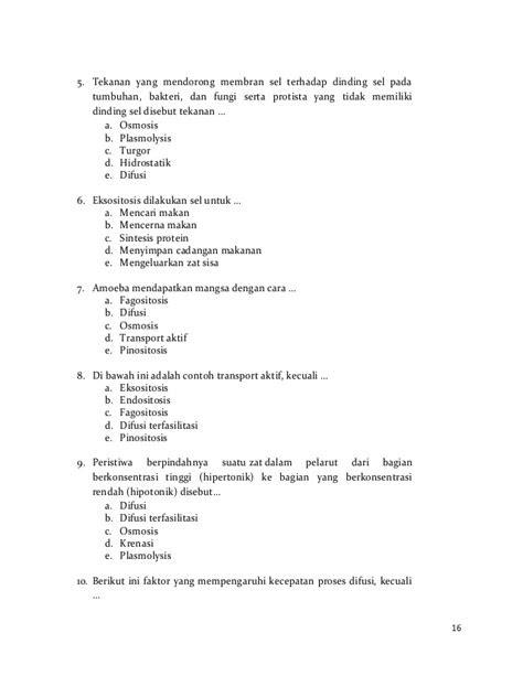 Transport Membrane Booklet