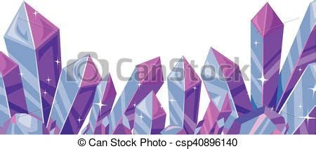 Crystals border. Border illustration featuring a cluster
