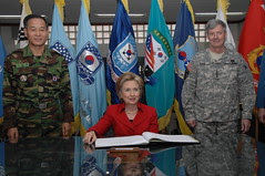 Secretary of State, Hillary Rodham Clinton vis...