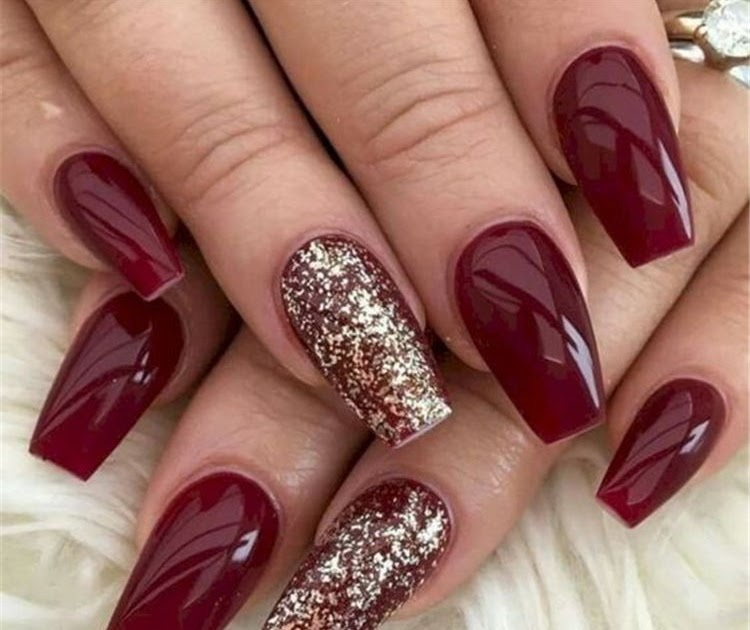 Coffin Cute Acrylic Nails Christmas Nail And Manicure Trends