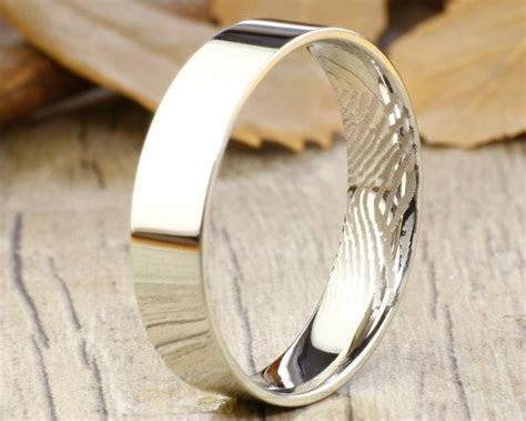 Your Actual Finger Print Rings, WEDDING RING   Men Ring
