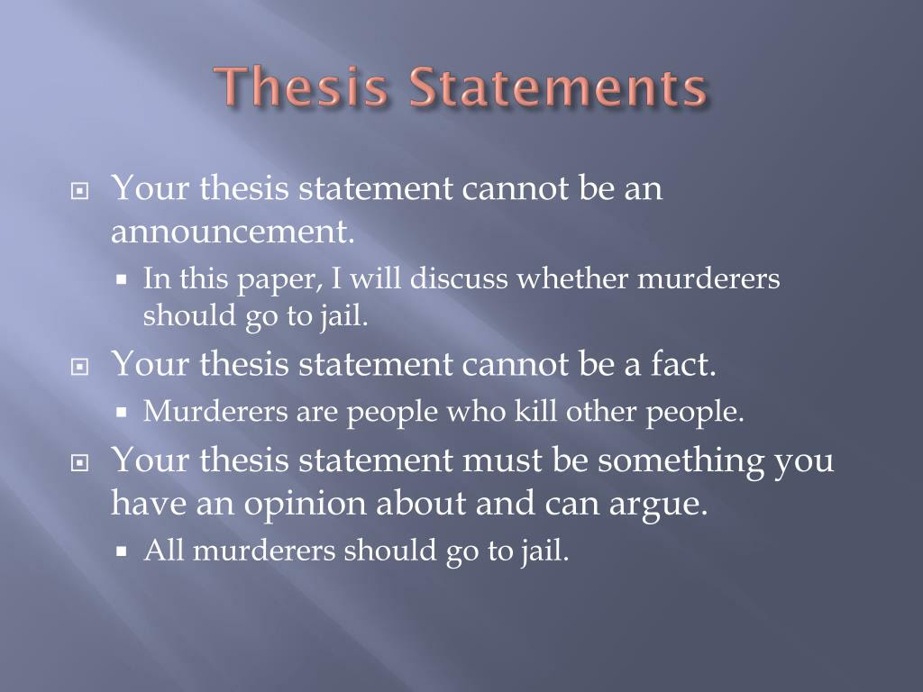 where should a thesis statement go