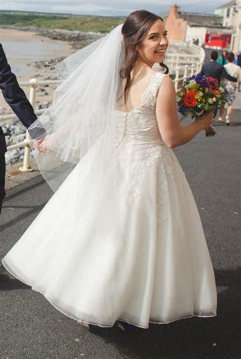 Justin Alexander 8706 Tea Length Dress   Sell My Wedding
