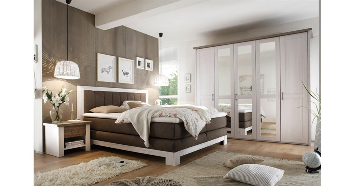 schlafzimmer set mit boxspringbett. Black Bedroom Furniture Sets. Home Design Ideas