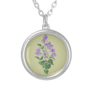 Sweet Violets Necklace February Birth Month Flower