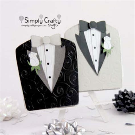 Gay Wedding Tuxedos Card SVG File   Simply Crafty SVGs