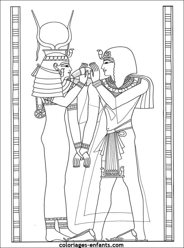 warnio05 egyptische mandala kleurplaat