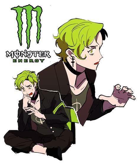 monster energy personified gijinkasz   anime art