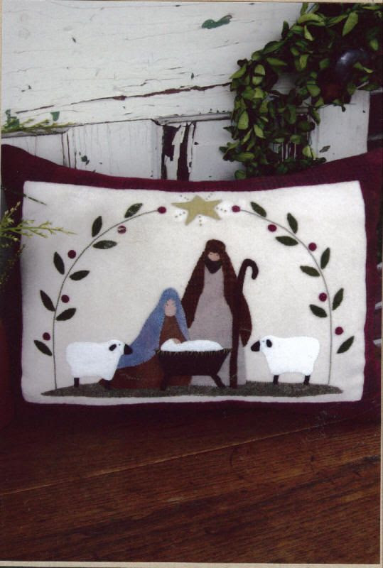 Wool Applique Patterns | The Pattern Hutch -Primitive Gathering- Applique Table Mat Patterns ...