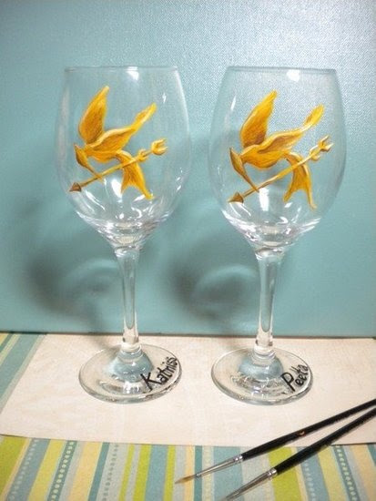 Mockinjay wine glasses