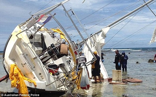 Shocking discovery: Divers came across the 40ft yacht, JeReVe, and the body of  35-year-old Slovak national, Milan Rindzak surrounded by wads of cash