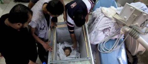 to νεκρό σώμα του παιδιού σε καταψύκτη