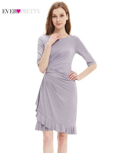 4011f814236f [Clearance Sale] Ever-Pretty Women Elegant Cocktail Dress Simple Chiffon A  Line Half Sleeve Sexy Ruffle Party Cocktail Dress | Clothing and Dresses
