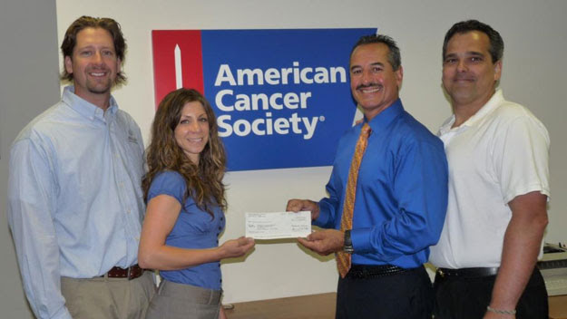 Check presented to American Cancer Society