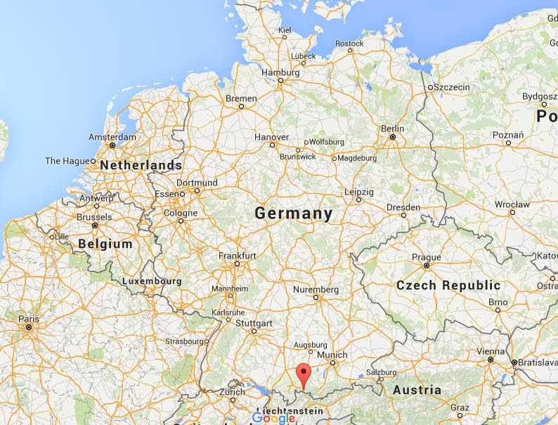 Where is Fussen on map Germany