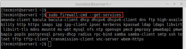 Check Firewalld Services