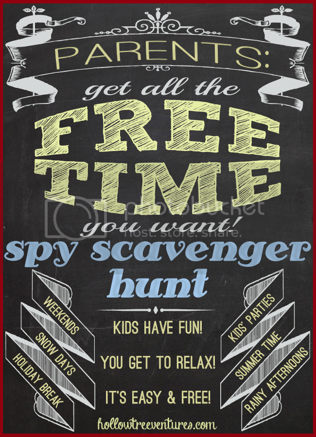 parental free time - scavenger hunt by Robyn Welling @RobynHTV