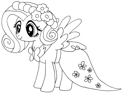 Coloriage My Little Pony Fluttershy Coloriages à Imprimer Gratuits
