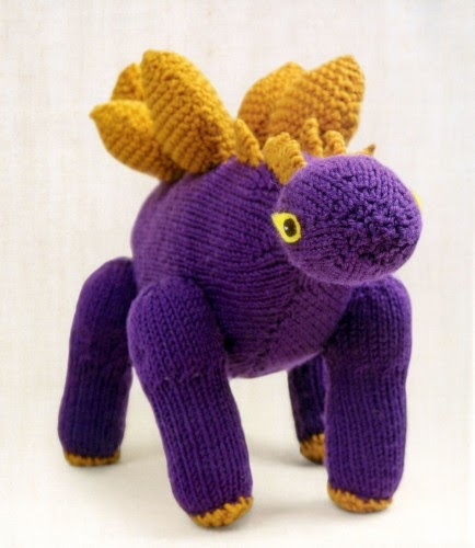 Mini Dinosaur Knitting Pattern : Free Christmas Knitting Patterns: KNIT YOUR OWN STEGOSAURUS DINOSAUR