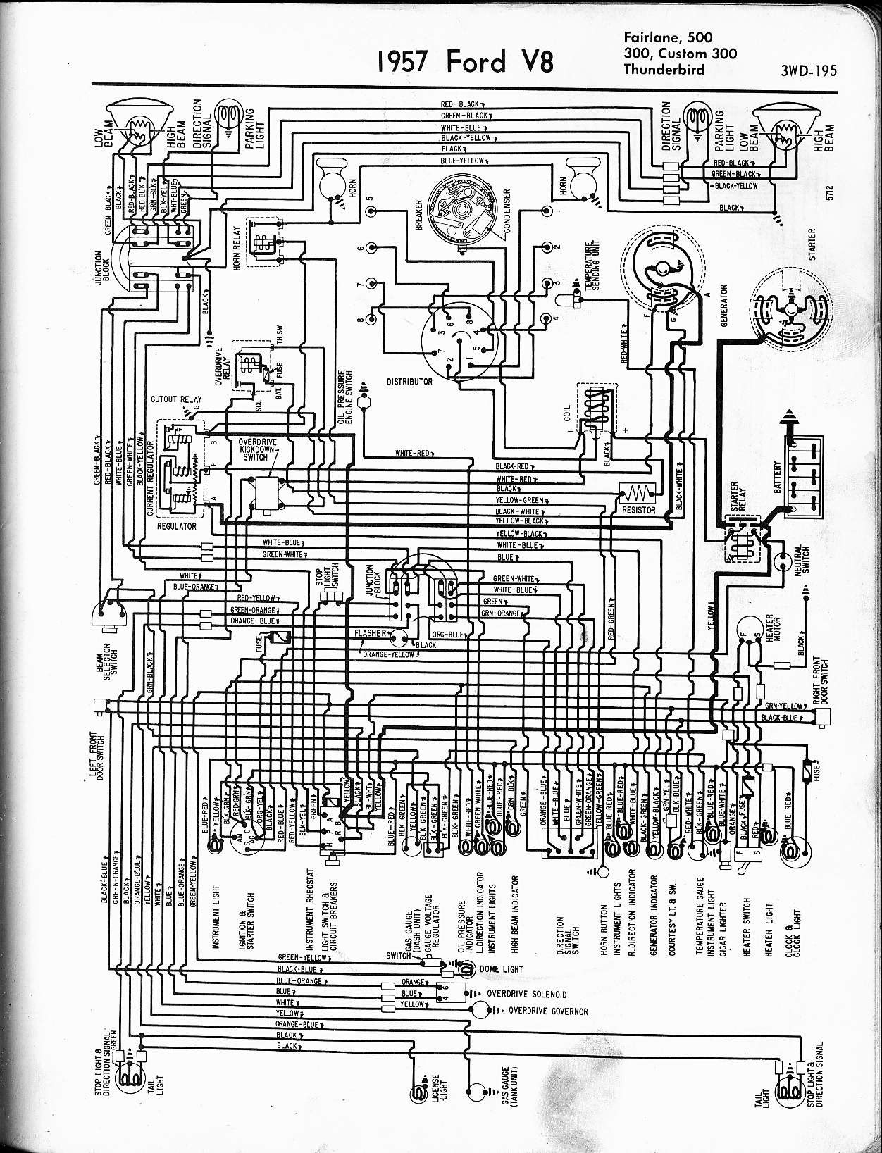 1955 Ford Fairlane Wiring Diagram Wiring Diagram View A View A Zaafran It