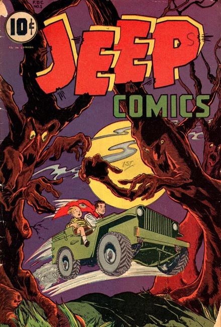 Jeep Comics cartoon trees