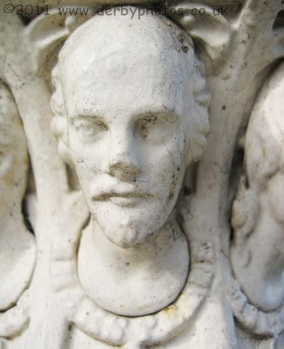 Shakespeare cast in Iron on Handyside Urn