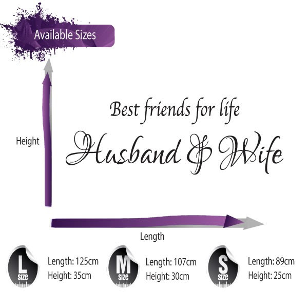 Best Friends For Life Husband Wife Wall Sticker Quote Wall Art