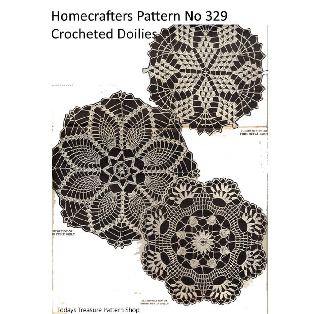 Homecrafters Crochet Pansy Doily Pattern 329
