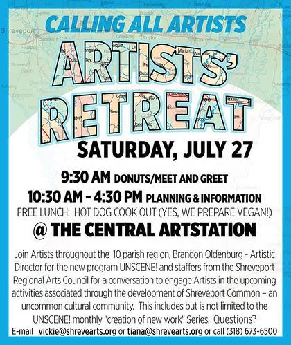 SRAC artist retreat July 27 by trudeau