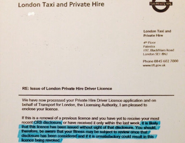 It's All About The Money : TFL's Superfluous Charges... By Jim Thomas