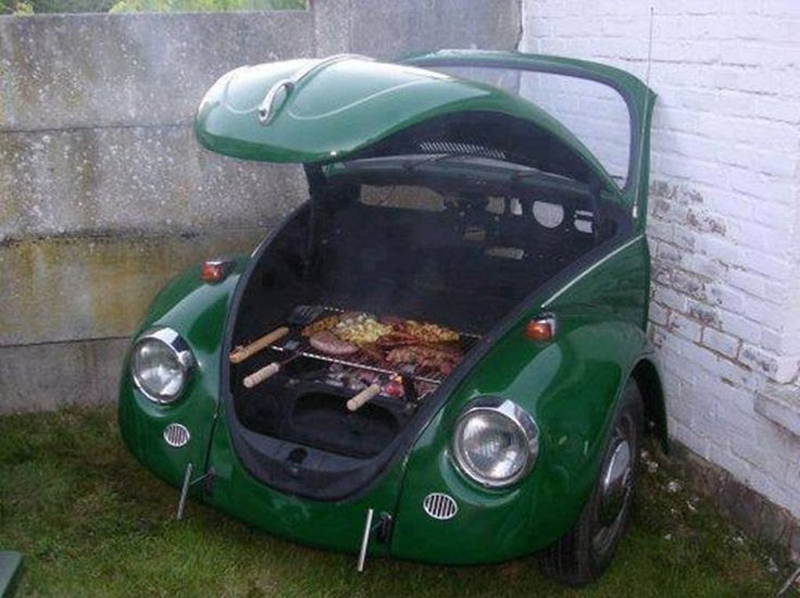 "What do you think of this VW barbecue grill – Win or Fail? If you love outdoor cooking, then head over to our ""Outdoor Kitchen"" album at http://theownerbuildernetwork.co/ideas-for-your-rooms/kitchens-gallery/outdoor-kitchen/ When was the last time you cooked outdoors?"